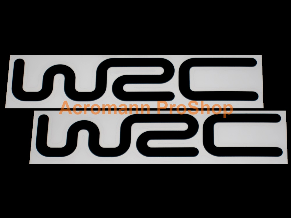 WRC FIA World Rally 6inch Decal (Style#3) x 2 pcs